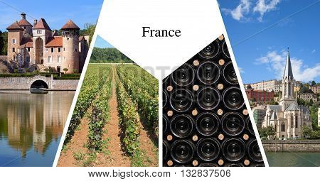 France presentation card with four images on it