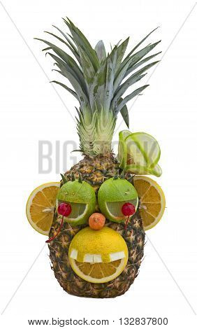 Fruit monkey isolated on a white background