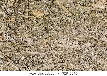 Old destroyed board Oriented strand board (OSB) - pattern.