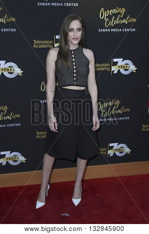 LOS ANGELES - JUN 2:  Carly Chaikin at the Television Academy 70th Anniversary Gala at the Saban Theater on June 2, 2016 in North Hollywood, CA