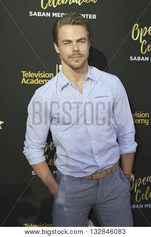 LOS ANGELES - JUN 2:  Derek Hough at the Television Academy 70th Anniversary Gala at the Saban Theater on June 2, 2016 in North Hollywood, CA
