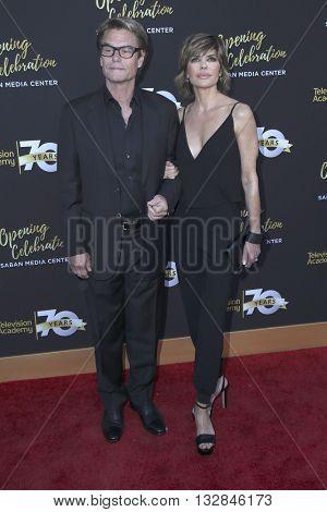 LOS ANGELES - JUN 2:  Harry Hamlin, Lisa Rinna at the Television Academy 70th Anniversary Gala at the Saban Theater on June 2, 2016 in North Hollywood, CA