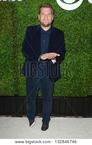 LOS ANGELES - JUN 2:  James Corden at the 4th Annual CBS Television Studios Summer Soiree at the Palihouse on June 2, 2016 in West Hollywood, CA