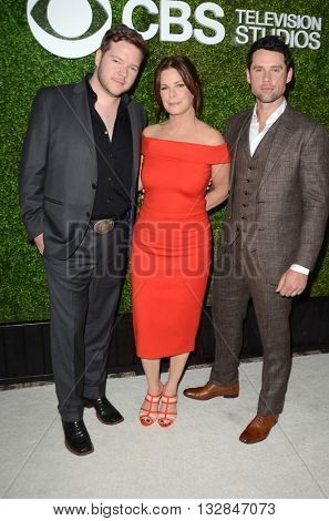 LOS ANGELES - JUN 2:  Harry Ford, Marcia Gay Harden, Ben Hollingsworth at the 4th Annual CBS Television Studios Summer Soiree at the Palihouse on June 2, 2016 in West Hollywood, CA