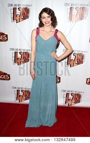 LOS ANGELES - MAY 31:  Madeleine Coughlan at the 42nd Street Play Opening at the Pantages Theater on May 31, 2016 in Los Angeles, CA