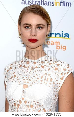 LOS ANGELES - JUN 1:  Lucy Fry at the 2016 Australians In Film Heath Ledger Scholarship Dinner at the Mr. C on June 1, 2016 in Beverly Hills, CA