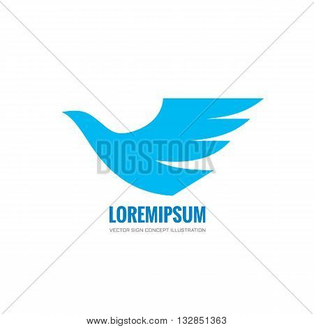 Bird - vector logo concept illustration. Bird logo. Dove logo. Bird icon. Bird sign. Bird symbol. Vector logo template. Design element.