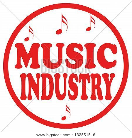 Red stamp with text Music Industry,vector illustration
