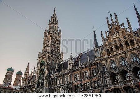 New Town Hall Marienplatz - Munich Germany