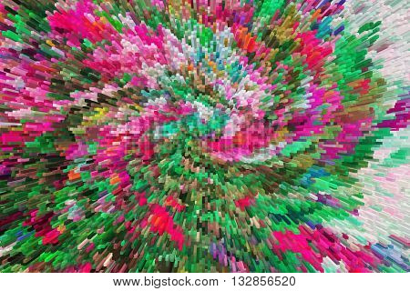 color extrusion floral background bright colorful abstract extrusion blocks and pyramids the gradient for the background and texture 3D extrusion background flowers floral pattern fabric and fashion design