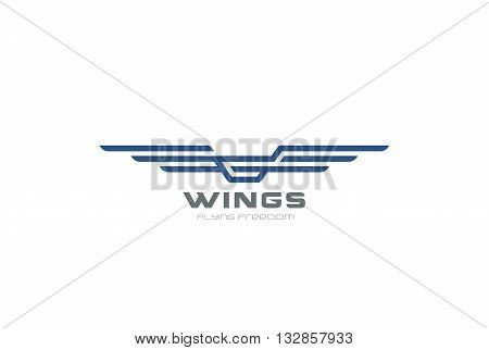 Wings Logo abstract design vector Aircraft Heraldic Airlines