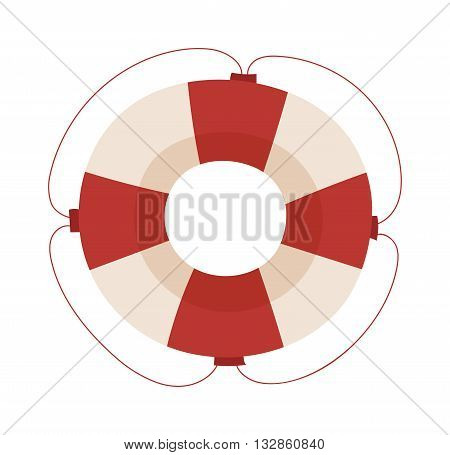 Lifebuoy vector icon symbol vector. Isolated lifebuoy preserver object concept sign guard. Beach water ship graphic float lifebuoy. Stripped lifebuoy emergency help survival equipment protection.