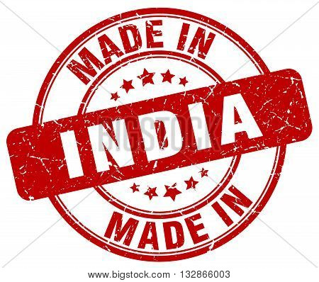 Made In India Red Round Vintage Stamp.india Stamp.india Seal.india Tag.india.india Sign.india.india