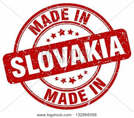 Made In Slovakia Red Round Vintage Stamp.slovakia Stamp.slovakia Seal.slovakia Tag.slovakia.slovakia