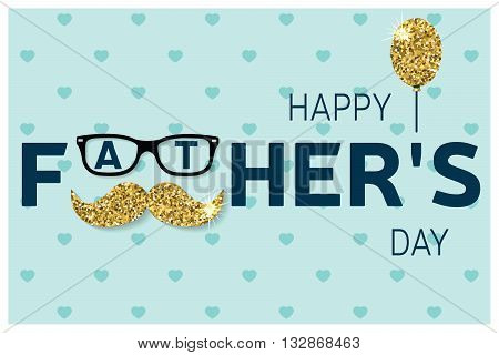 Happy Father's Day Greeting Card. Happy Father's Day Poster. Vec