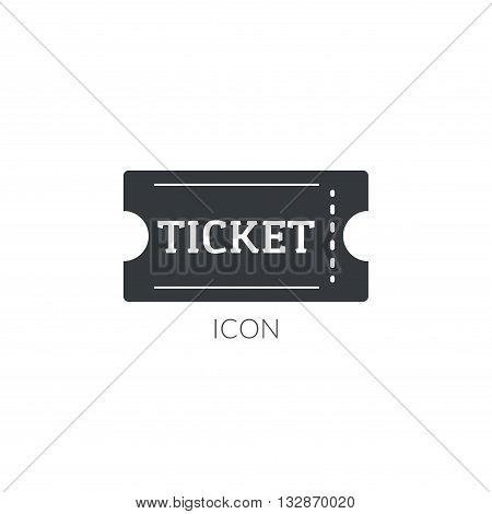 Theater movie ticket icon logo. Ticket vector illustration.