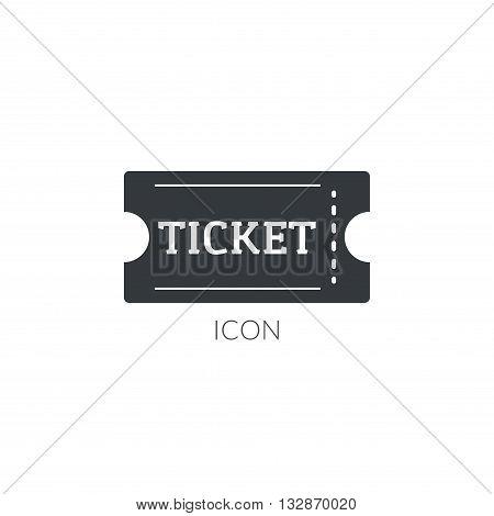 Theater movie ticket icon logo. Ticket vector illustration.