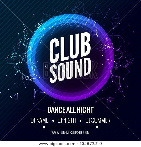 Modern Club Music Party Template, Dance Party Flyer, brochure. Night Party Club Banner Poster
