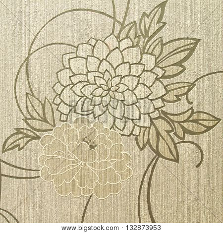 Beautiful texture of floral design used for background