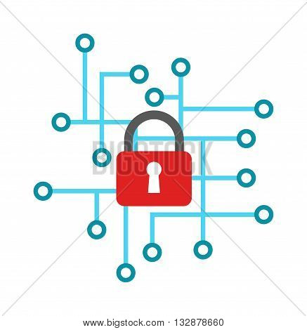 Cyber icon security design and cyber icon vector illustration. Cyber icon security, protection information internet digital cyber icon. Web computer secure concept cyber icon computing security.
