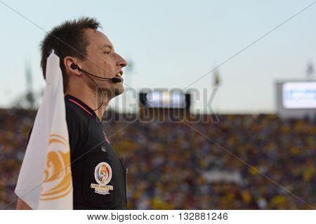 Soccer Linesman During Copa America Centenario