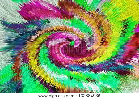 color extrusion floral background bright colorful abstract extrusion blocks and pyramids the gradient for the background and texture 3D illustration extrusion flowers pattern for fabrics and fashion design