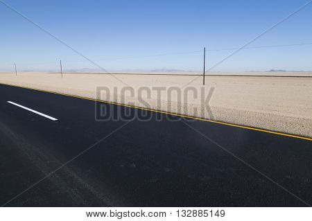 highway in the desert Namibia in Africa