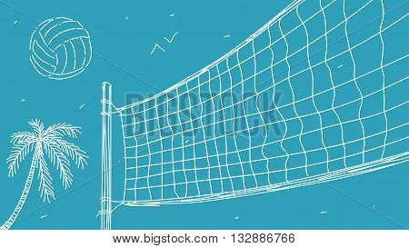Beach Volleyball Vector Illustration eps 8 file format