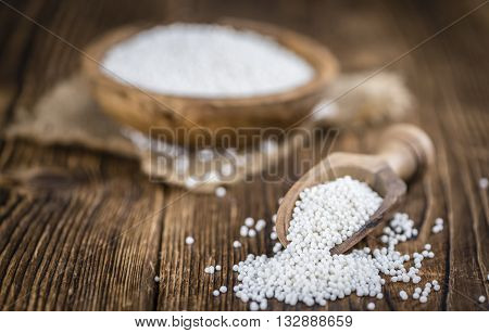 Wooden Table With Tapioca