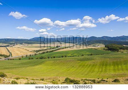 Rural Summer Landscape In Eastern Slovakia