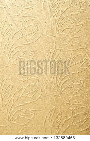 Beautiful wall texture with floral design used for background