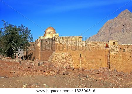 Nice view of St. Catherine's Monastery, Sinai, Egypt