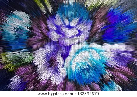 color extrusion floral background bright colorful abstract extrusion blocks and pyramids the gradient for the background and texture 3D extrusion flowers pattern for fabrics and fashion design