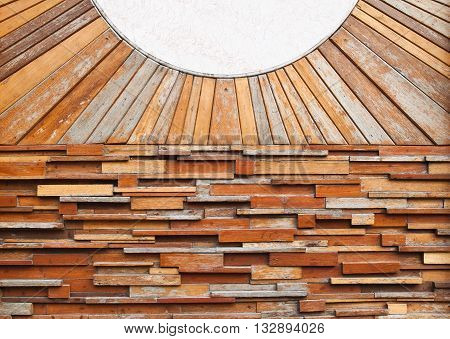 Vintage wood pattern texture and white marble for background