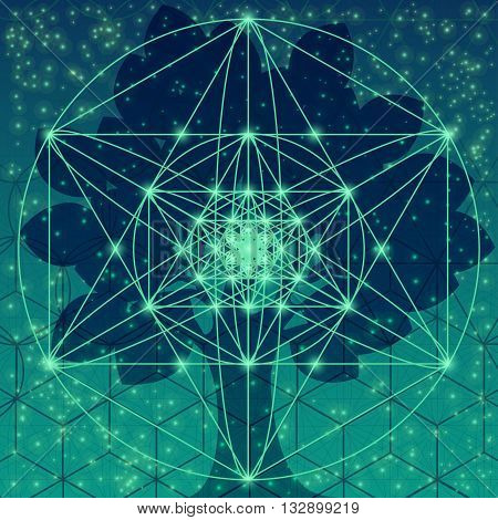 Sacred Geometry Symbols And Elements.