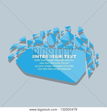 CRUSHED ELEMENTE TEMPLATE MESSAGE STICKER FOURTH EDITION BLUE for web and other