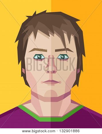 Vector illustration of a human face in polygonal style.