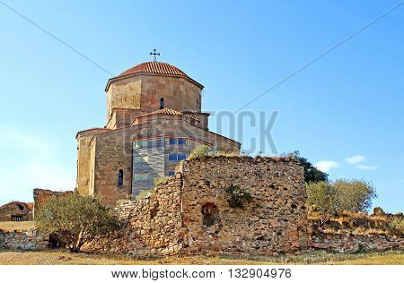 Great Church of Jvari or Jvari Monastery is the georgian orthodox monastery located near Mtskheta, Georgia