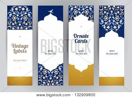Vector Set Of Ornate Eastern Cards.