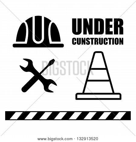Set Of Icons Under Construction