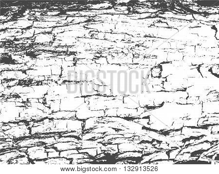 Wooden Planks distress overlay texture for your design. Vector illustration. Grunge texture.