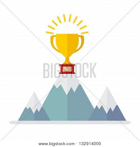 Win Cup On Mountain