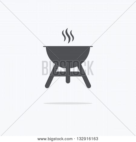 Barbecue grill icon or sign isolated on white background. BBQ symbol. Vector illustration.