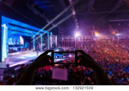 Take Photo Concert In Front Of Stage