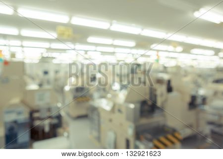 Manufacturing Factory Blurred