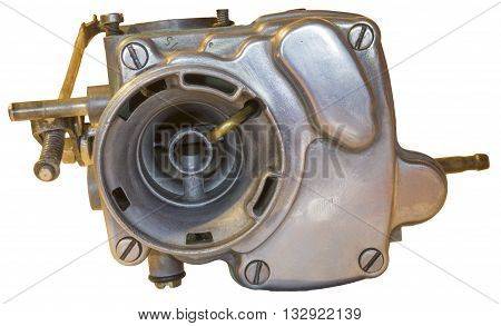 old auto carburetor on a isolated background.