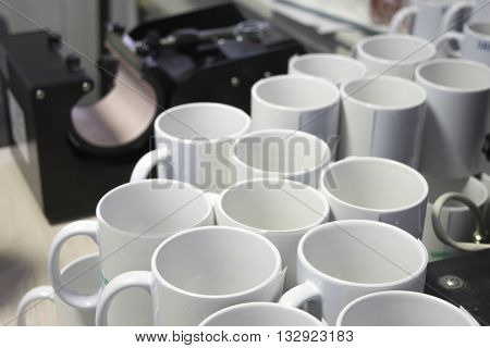 white mugs are ready for sublimation printing