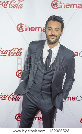 LAS VEGAS - APRIL 14 : Actor Jack Huston recipient of the Rising Star of the Year Award attends the CinemaCon Big Screen Achievement Awards at The Caesars Palace on April 14 2016 in Las Vegas