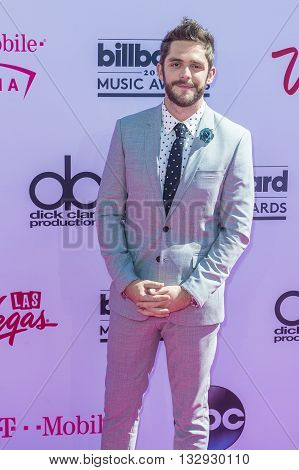 LAS VEGAS - MAY 22 : Country singer Thomas Rhett attends the 2016 Billboard Music Awards at T-Mobile Arena on May 22 2016 in Las Vegas Nevada.