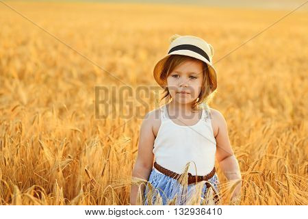 Girl In The Wheat Field